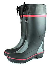 Plástico Plano Heel dos homens impermeáveis botas Comfort chuva (mais cores)