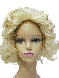 High Quality Synthetic Japanese Kanekalon Marilyn Monroe Short Curly Hair Wig Capless Celebrity Hairstyles Wig