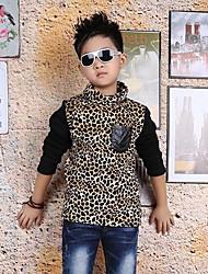 леопард воротник стойка тройники мальчика