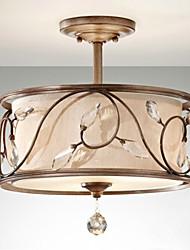 K9 cristal encastré, 3 Lumière, Style American Iron Peinture de tissu