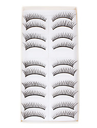 10pcs long faux cils