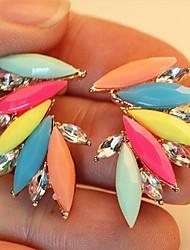 Ohrring Ohrstecker Schmuck 2 Stück Harz Damen Silber