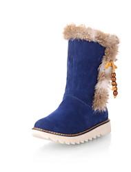 Замша низком каблуке Снег загрузки Ankel Сапоги (больше цветов)