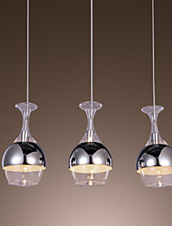 Modern Creative 3 Light Pendant in Shape Of Goblet