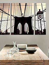 Stretched Canvas Print Art Architecture Great Bridge Set of 3