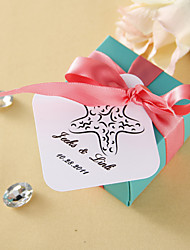 Personalized square tags - Starfish (set of 36)