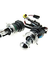 2pcs de voiture H4-H / L HID xénon ampoules Lampes AC / DC 12V55W (4300-12000K facultatif)