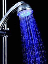 Blue Romantic LED Light Top Spray Shower Head Bathroom Showerheads