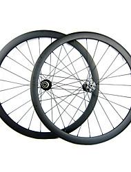 23mm Ancho 38mm 700C completa Carbon Tubular ciclocross bicicletas / Juegos de ruedas de bicicletas