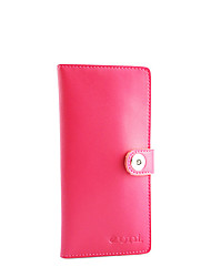 KATE&CO Vintage Genuine Leather Solid Color Magnet Wallet(Fuchsia)