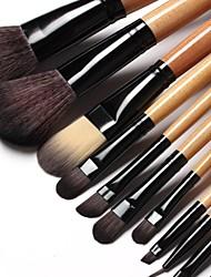 15pcs doux cheveux synthétiques téléviseurs noir avec étui en cuir