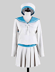 Inspired by Kantai Collection Error Musume Video Game Cosplay Costumes Cosplay Suits / School Uniforms Patchwork White / Blue Long Sleeve