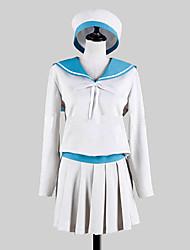 Inspiré par Kantai Collection Error Musume Vidéo Jeu Costumes Cosplay Costumes Cosplay / Uniforme d'Ecolier / Ecolière MosaïqueBlanc /