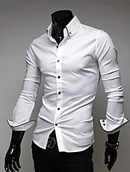 Men'S Casual Slim Long Sleeve Shirt