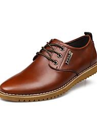 Herren Leder Wohnung Heel-Schuhe mit Komfort Oxfords Lace-up