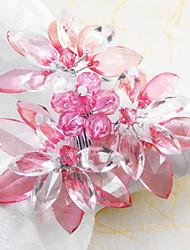 Fleur rose de mariage Serviette Set de 12, acrylique Dia 4.5cm