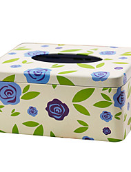 Blue Roses Tissue Box