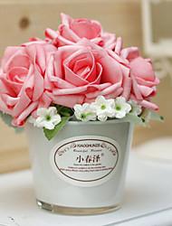 "6.3 ""H Modern Style Rose em Grass Vaso"