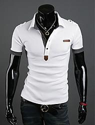 STJY Lässige Langarm-Polo-Shirt (weiß)