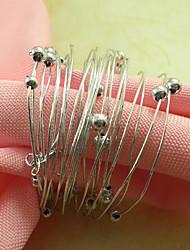 Polycycliques Acrylique Perles Rond de Serviette, Dia4.2-4.5cm Ensemble de 12