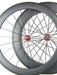 20,5 millimetri Larghezza 60 millimetri 700C Full Carbon anteriore 88 millimetri posteriore tubolare Road Bike / Ruote bici