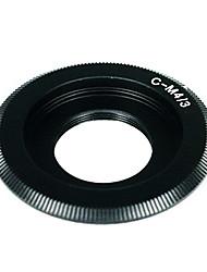 Negro C montura del objetivo para Micro 4/3 adaptador de E-P1 E-P2 E-P3 G1 GF1 GH1 GH2 G3 G2 GF2 GF3