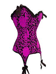 Incrível cetim Frente Fecho And Back Lace-up Corset Shapewear