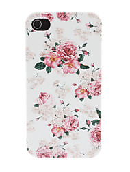 Deluxe Peony mønster PC Hard Case for iPhone 4/4S
