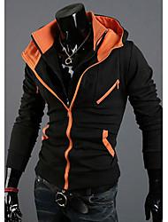 Modèle coréen Pulls Casual Couleur Coton Zipper assorties des hommes