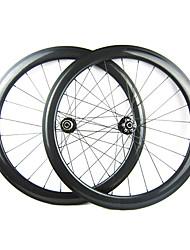 25mm Largeur 50mm 700C pleine de carbone d'enclume Cyclocross frein à disque de vélo / Essieux vélo