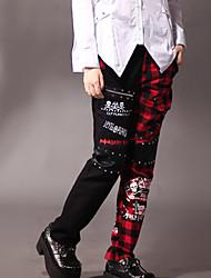 Cool Girl Stitching Fabric Punk Lolita Pants