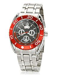 Regla de cálculo Caja Acero Inoxidable Silver Band Hombres cuarzo reloj de pulsera analógico (colores surtidos)