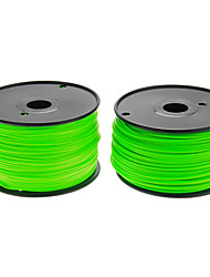 Reprapper 3D Printer Consumables Fluorescent Green Color (Optional Wire Diameter and Material) 1 Piece