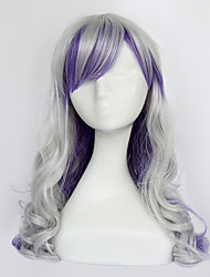 Spirit of the Night Silver and Purple 70cm Sweet Lolita Curly Wig