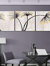 Stretched Canvas Print Art Botanical Fading Set of 3