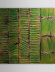 Pintado a mano pintura al óleo abstracta Junta de bambú con el marco de estirado 1312-AB0017