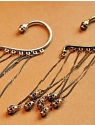 MISS U Frauen Bronze Weinlese-Troddel-Ohrringe Schädel