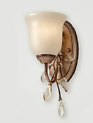 Wall Light, 1 Light, American Style Country Metal Glass Painting