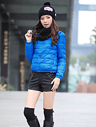 Mailljor Damen Short Fit Schlank Dick Cotton Blue Coat