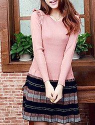Folli Scotland Style Long Sleeve Pleated Dress