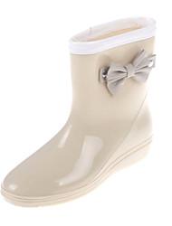 Rubber Women's Flat Heel Rain Boot Ankle Boots