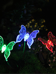 Solar Color-Changing Butterfly Garden Stake Light(CIS-57254B)