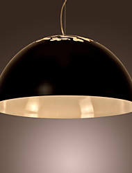 European-Style Minimalist 1 Light Pendant with Carved Shade