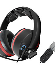 G989 Sômica Stereo Gaming USB 5.1 canais de som Headphone Over-Ear com microfone e remoto para PC