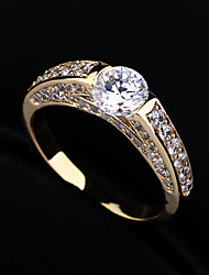 Ring Women's Rhinestone / Cubic Zirconia Alloy Alloy 6 / 7 / 8 As the PictureColor & Style representation may vary by monitor. Not