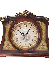 "9""H Country Style Resin Tabletop Clock"