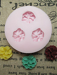 Three Flower Silicone Mold Fondant Molds Sugar Craft Tools Resin flowers Mould Molds For Cakes