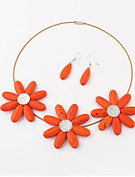 Women's Sun Flwoer Earrings&Necklace Set