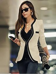 Manteau de Sara-Wei causal Slim (Blanc)