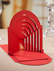 """Wedding in the Church"" Red Wedding Invitations - Set of 50"